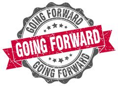 Going forward stamp. sign. seal Stock Illustration