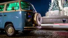 Volkswagen T2, Rome, Gianicolo Momument timelapse, Italy Stock Footage