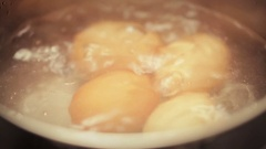 Boiling Eggs Stock Footage
