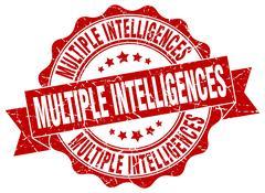 Multiple intelligences stamp. sign. seal Stock Illustration