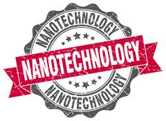 Nanotechnology stamp. sign. seal Stock Illustration