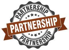 Partnership stamp. sign. seal Stock Illustration