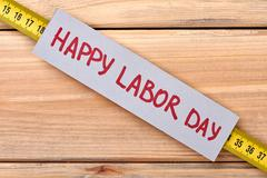Greeting card on Labor Day. Stock Photos