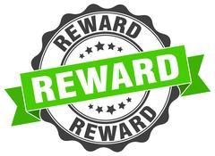 Reward stamp. sign. seal Stock Illustration