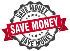 Save money stamp. sign. seal Stock Illustration