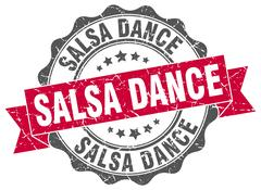 Salsa dance stamp. sign. seal Stock Illustration