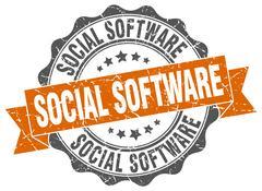 Social software stamp. sign. seal Stock Illustration