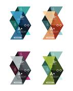 Set of color abstract arrow option infographic templates Stock Illustration