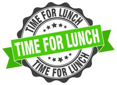 Time for lunch stamp. sign. seal Stock Illustration