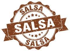 Salsa stamp. sign. seal Stock Illustration