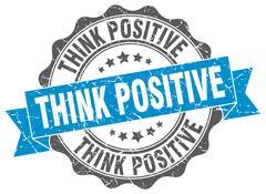 Think positive stamp. sign. seal Stock Illustration