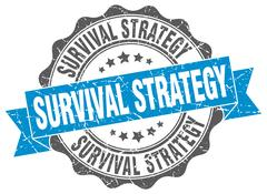 Survival strategy stamp. sign. seal Stock Illustration