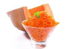 Fresh grated pumpkin Stock Photos