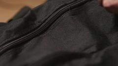 4K Opening a Bag Full Of Cash Money  - Closeup Stock Footage
