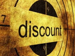 Discount grunge target concept Stock Footage
