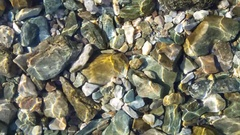 Clear sea water with stones Stock Footage