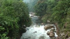 Sungai Pelus, Perak, Malaysia. Stock Footage