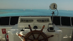 Yacht view from wheel deck Stock Footage