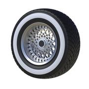 Automotive wheel isolated on white. 3D render Stock Illustration