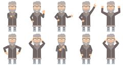Vector set of north man characters Stock Illustration