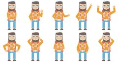 Vector set of traveling people Stock Illustration