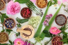 Natural Alternative Medicine Stock Photos