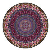 Flower mandala. Vintage decorative elements. Stock Illustration