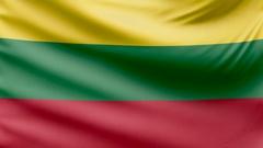 Realistic beautiful lithuania flag 4k Stock Footage