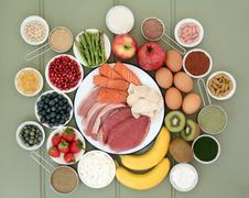 Super Food for Body Builders Stock Photos
