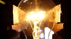 Slow Motion Bulb Lamp Explosion Stock Footage