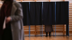 People casting votes Stock Footage