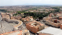 Vatican City, Iitaly. Panorama di Roma, view of the city Stock Footage