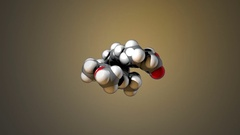 Rotating Computer Model of a Acitretin Molecule Stock Footage