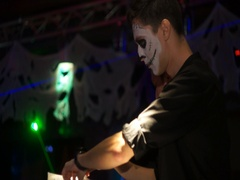 Halloween Party In Club Stock Footage