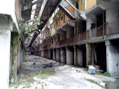 Inside of Scampia palaces - Naples - IT Stock Footage