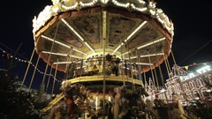 Merry Go Round at Night Stock Footage