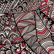 Zentangle ornament. Colorful texture for backgrounds Stock Illustration