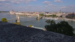 The Danube River is featured in this Budapest, Hungary time lapse Stock Footage