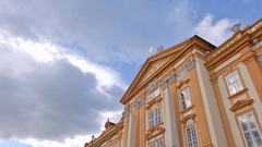 The Melk Abbey is featured in this time lapse video Stock Footage