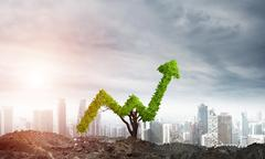 Right investment for getting income Stock Illustration