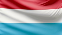 Realistic beautiful luxembourg flag 4k Stock Footage