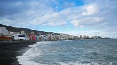 Las Palmas de Gran Canaria Shore Stock Footage