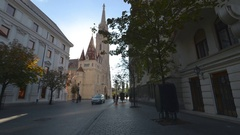 St. Mathias Church in Budapest, Hungary is featured in this time lapse Stock Footage