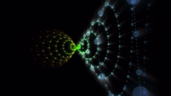 Futuristic animation with stripe object and lights, 4096x2304 loop 4K Stock Footage