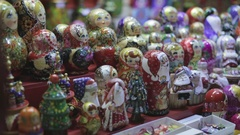 Russian Traditional Souvenirs Stock Footage
