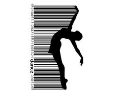 Silhouette of a dancing girl. Dancer woman. Stock Illustration
