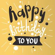 Beautiful happy birthday invitation cards vector Stock Illustration
