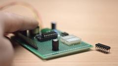 Developer assembly prototype of electronic device Stock Footage