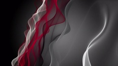 Powerful animation with wave object in slow motion, 4096x2304 loop 4K Stock Footage