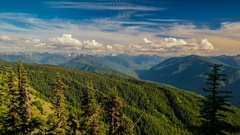 4K Olympic National Park Hurricane Ridge Time-lapse Stock Footage